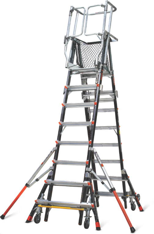 Aerial Safety Cage Little Giant Ladders Eladders Com