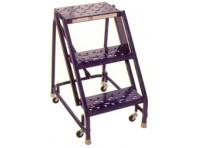 Steel Rolling Warehouse Ladder - 3 Step