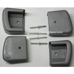 Type 1AA Outer Foot Assembly Kit (includes 2 Left and 2 Right Feet, 4 Rivets)